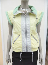 PALE YELLOW MIX LIGHTWEIGHT SHORT SLEEVE SPORT JACKET - REPLAY - SIZE M
