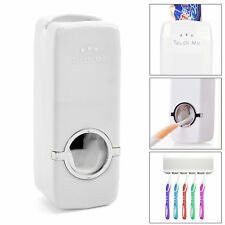 5 TOOTHBRUSH HOLDER WALL MOUNT RACK HOUSEHOLD AUTOMATIC TOOTHPASTE DISPENSER SET