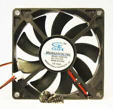 New 80mm 15mm New Case Fan 12V DC 31CFM 2 Pin Ball Computer PC CPU Brg 365*