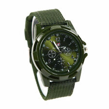 CAMOUFLAGE Men fabric Sport Quartz Military ARMY Watch Swiss flag Gemius GREEN ;