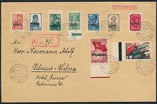 Besetzung Litauen Wilna-Gebiet Satzbrief 1941 Michel 10-18 Attest (S12664)