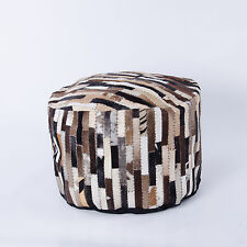 Sitzhocker Sitzsack aus echtem Kuhfell gearbeitet Kuh beige/braun/schwarz/weiß