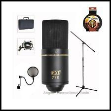 MXL 770 Professional Studio Condenser Microphone Shockmount Stand Recording Pack