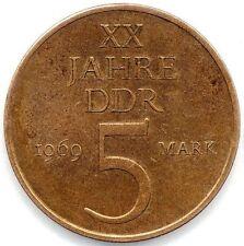 5 Mark Gedenkmünze, 20 Jahre DDR