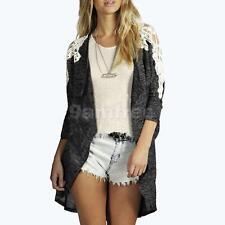 Women's Casual Long Sleeve Cardigan Knit Tops Sweater Knitwear Coat Outwear
