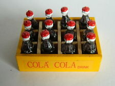 (F26) DOLLS HOUSE DRINK : WOODEN CRATE OF 12 COLA BOTTLES