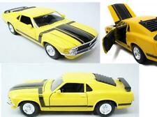 Diecast car 1970 Ford Mustang Boss 302 In Yellow 1:24 Die Cast Welly