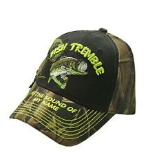 "Fishing Camo Fish Tremble at the sound of my name 'Camo brim""' Fishing Cap"