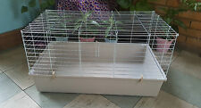 Guinea Pig Cage Rabbit Hutch 80cm Indoor Steel Rat Chinchilla Degu Ferret Silver