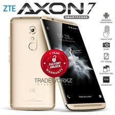 "New Unlocked ZTE Axon 7 Gold 5.5"" AMOLED Quad Core 4G LTE Android Mobile Phone"