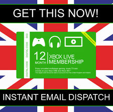 12 Month XBOX LIVE Gold Membership for Xbox 360 XBOX ONE