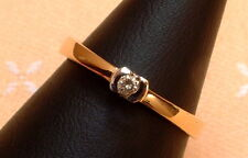 Exclusiver Brillant Ring - Solitär - 0,05 ct. - 14 Kt. Gold - 585 - Gr. 52 - NEU