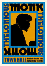 Thelonious Monk at New York Concert Poster Circa 1959