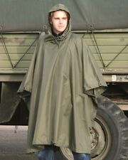 Plain Olive Waterproof Hooded Ripstop US Army Poncho