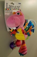 NEW Lamaze Dee Dee the pink Dragon hanging car seat infant toy sensory