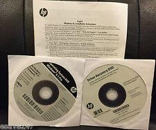 DVD Windows 8.1 64-Bit Pro HP Driver Recovery Disk Media Elite Desk 800/Pro 600