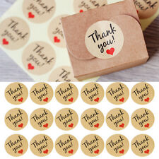 Lot 60X Thank You Adhesive Kraft Sticker Label Seal Envelopes Gift Box Bag Decor