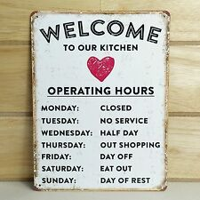VINTAGE STYLE METAL WALL SIGN PLAQUE SHABBY CHIC KITCHEN PICTURE RETRO TIN DECOR