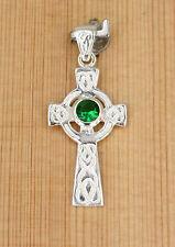 Anhänger Silber Zirkonia Celtic knot Cross +  Keltische knoten Kreuz