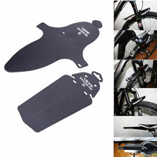 1set Ultralight Bike Cycling Bicycle MTB Black Sports Fender Front Rear Mudguard