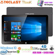Teclast Tbook11 10.6'' 64GB Windows10 Android 5.1 Intel Quad Core WIFI Tablet PC