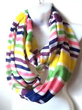 BNWOT**FANTASTIC LADIES MULTI COLOUR STRIPED SNOOD-SCARF