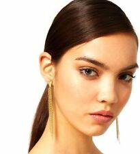 Fashion Gold Chain Tassel Dangle Earrings - Women Jewellery Drop Stud Tassles