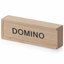 Kids Wooden Box Dominoes Set Toy Traditional Classic Children 28 Domino Game Fun