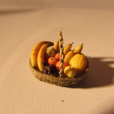Fruit in a basket ~ 24th scale ~ dollhouse miniature food