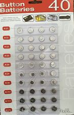 New 40 ASSORTED BUTTON CELL WATCH BATTERIES AG1/3/4/5/12/13+Free Postage