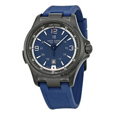 New Victorinox Swiss Army Night Vision Blue Dial Men's Rubber Strap Watch 249069