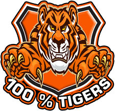 100% WEST TIGERS DECAL GLOSS LAMINATED SIZE 100MM BY 100MM APR.