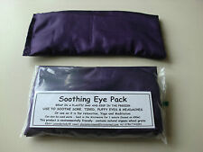HAND MADE PURPLE SILK EYE PACK MASK LAVENDER WHEAT BAG YOGA MEDITATION HEADACHES