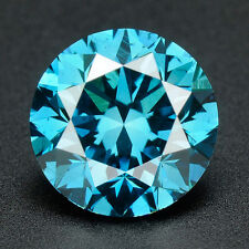 CERTIFIED .042 cts. Round Cut Vivid Blue Color VVS Loose Real/Natural Diamond 2H