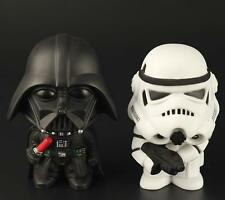 2 Pcs Set Cute Big Head Star Wars Character Darth Vader Stormtrooper Figure Toys