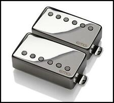 EMG 57 / 66 Alnico V Active Humbucker neck Bridge Guitar Pickup Set Black Chrome