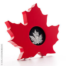 1 oz Silber Maple Leaf 2015 Cut Out Polierte Platte (Frosted Proof) im Etui