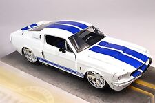 FORD SHELBY GT-500 MUSTANG 1967 WHITE JADA 90057 1:24 DIECAST