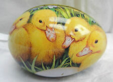 Egg Shape Tin with Duckling Decoration - Easter Gift Tin - BNWT
