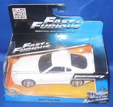 FAST & FURIOUS 7 MOVIE BRIAN'S TOYOTA SUPRA (WHITE) DIE CAST COLLECTIBLE CAR