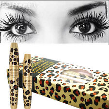 Leopard 3D Natural Fiber Lashes Mascara& Gel Set Waterproof 2016