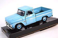 CHEVROLET C10 FLEETSIDE PICKUP 1966 MOTORMAX 73355 1:24 NEW DIECAST LIGHT BLUE