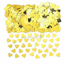 Gold Heart Confetti Foil Party Supplies Wedding Table Scatters Decorations