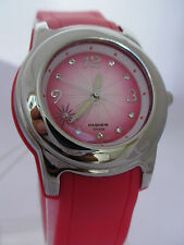 LADIES GENUINE WATERPROOF QUALITY ROSE RED 3 COLOURS 5ATM DRESS SPORT WATCH