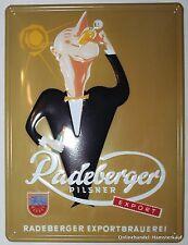 Radeberger Bier Metall Nostalgie Schild 30x40cm NEU & OVP Design Motiv 2 von 2