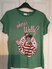 Where's Wally Graphic T-shirt from New Look Green Size 18 New