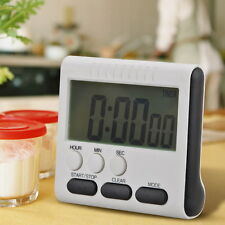Magnetic Large LCD Digital Kitchen Timer Loud Alarm Count Up Down Clock 24 Hour
