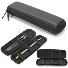 Hard Shell Black Color Fountain Pen Pencil Case Holder Pouch Stationery Bag Box