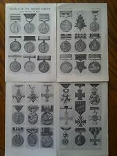 Medals of British Forces Waterloo to WW1 1924 7 Pages to Frame ?