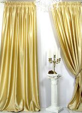 Vorhänge, 1 Satin Fertig-Vorhang *hell Gold* Einzelstück aus Musterkollektion